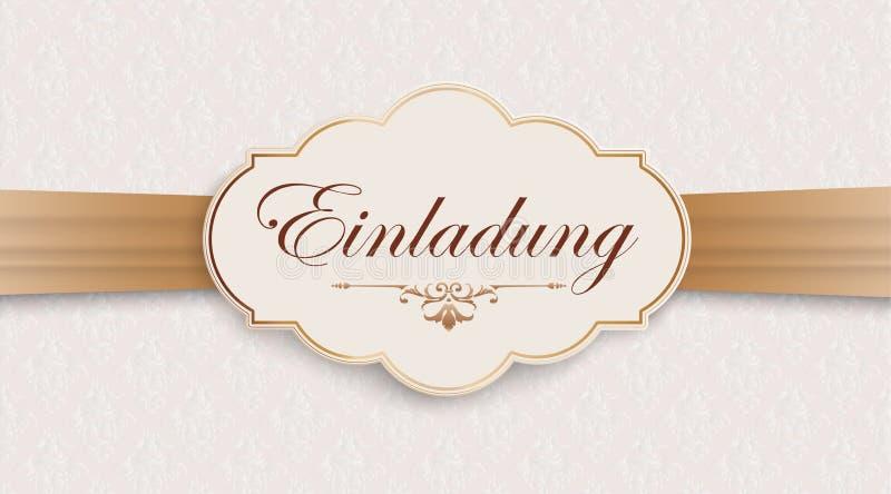 A fita larga nobre de Einladung Ornaments o encabeçamento ilustração royalty free