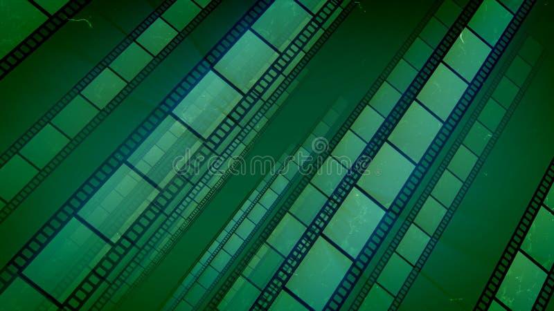 A fita lindo do filme verde colocou Aslant ilustração stock