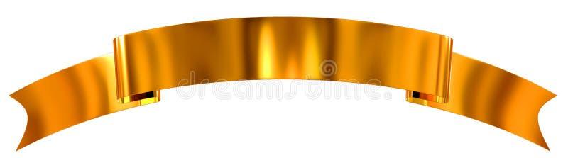 Fita lustrosa do ouro como a bandeira ilustração stock