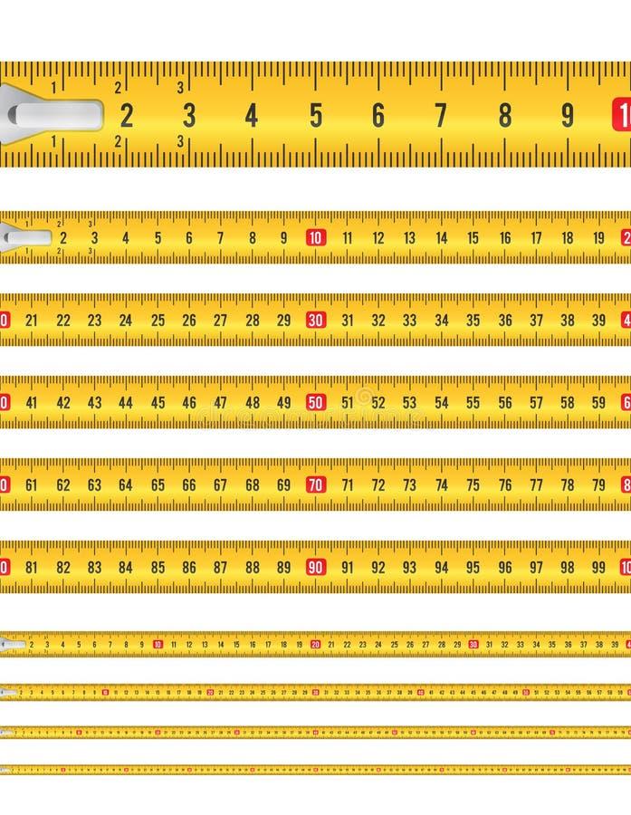 Fita métrica sem emenda ilustração royalty free
