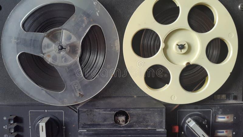 fita magnética Registrador de fita velho imagem de stock