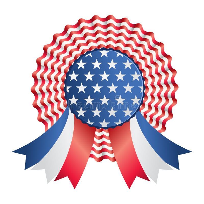 Fita ou emblema dos EUA ilustração stock