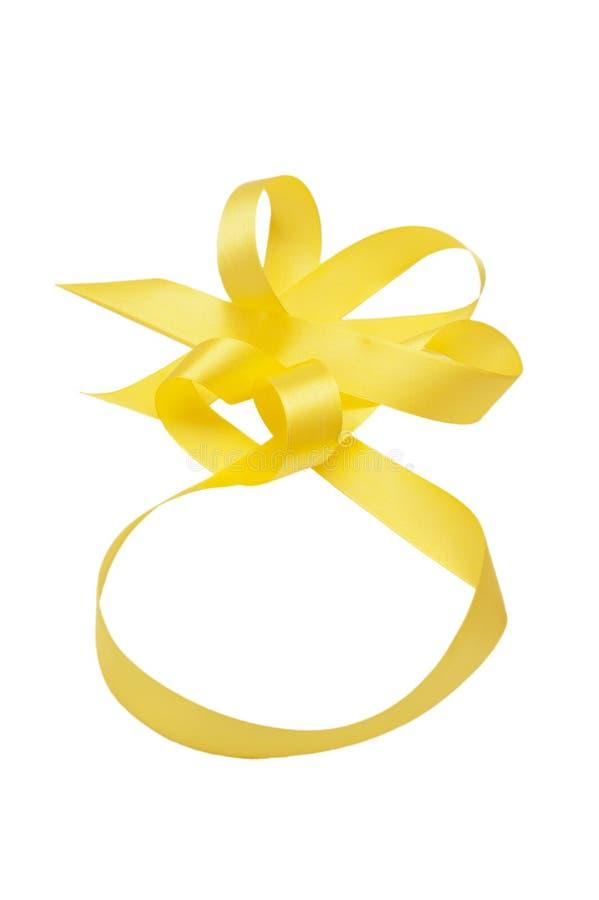 Fita satiny amarela foto de stock royalty free
