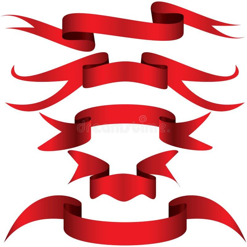 Fita simplesmente vermelha ilustração do vetor