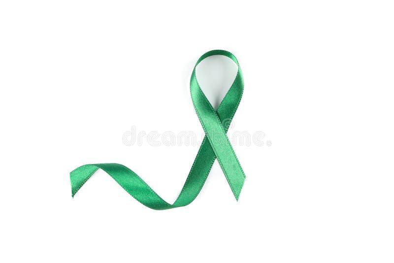 Fita verde da conscientização isolada imagem de stock royalty free