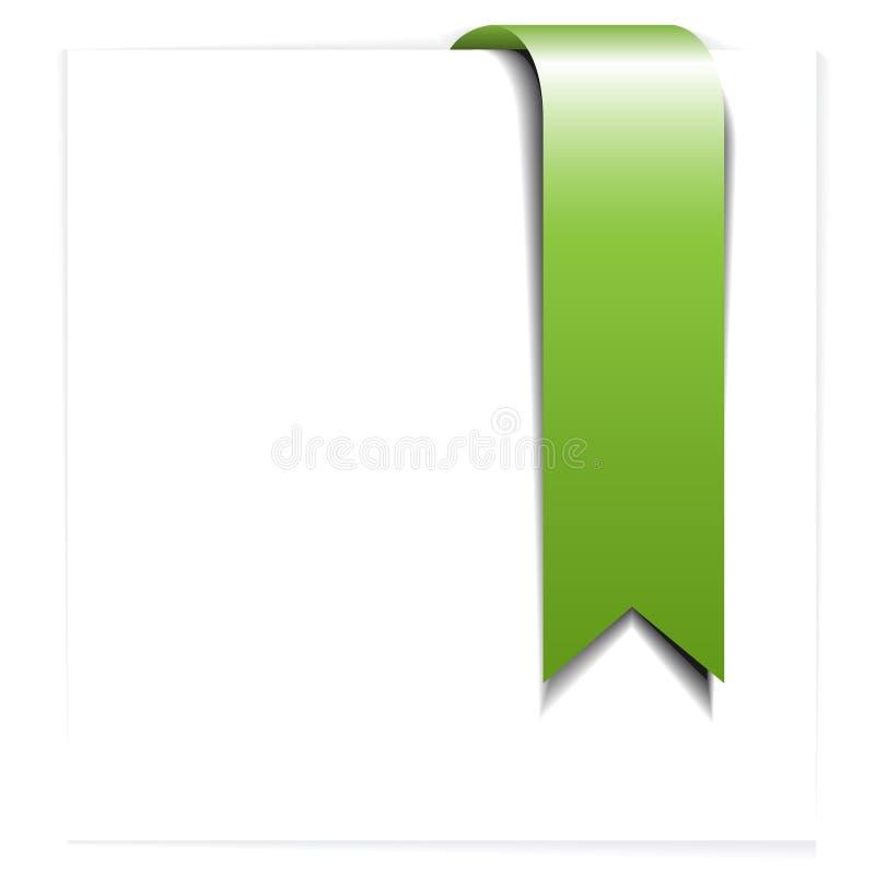 Fita verde fresca - endereço da Internet ilustração royalty free