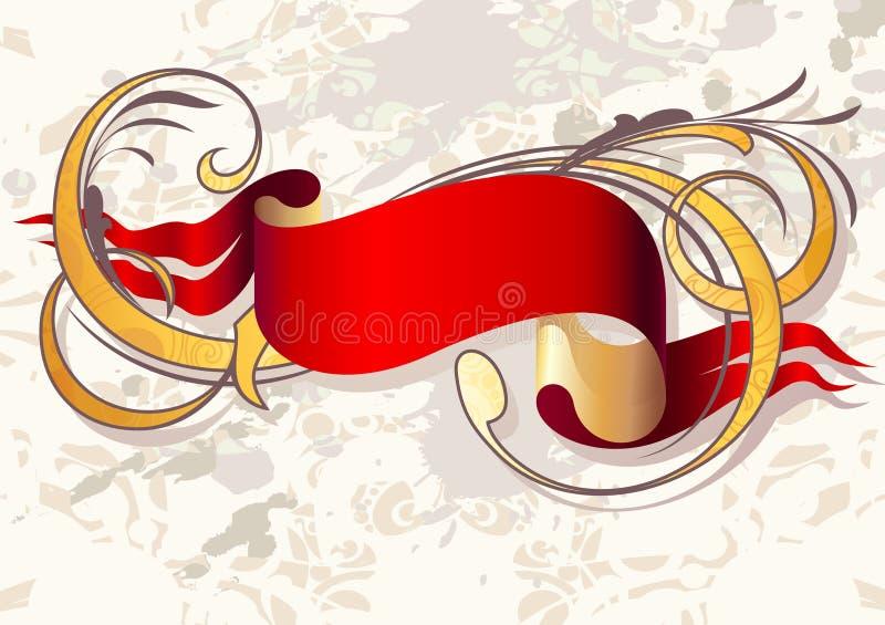 Fita vermelha ilustração do vetor