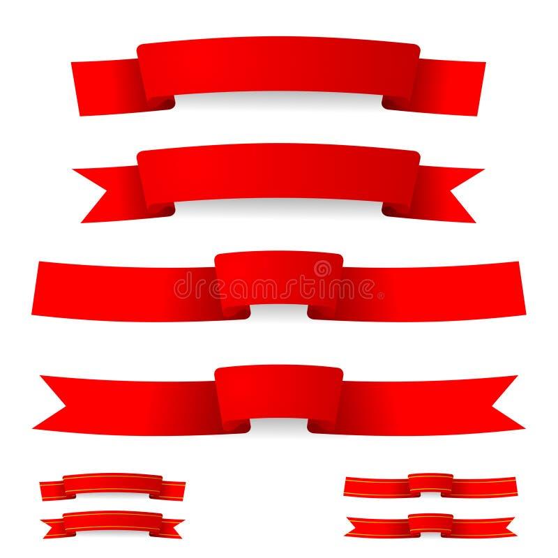 Fita vermelha ilustração royalty free