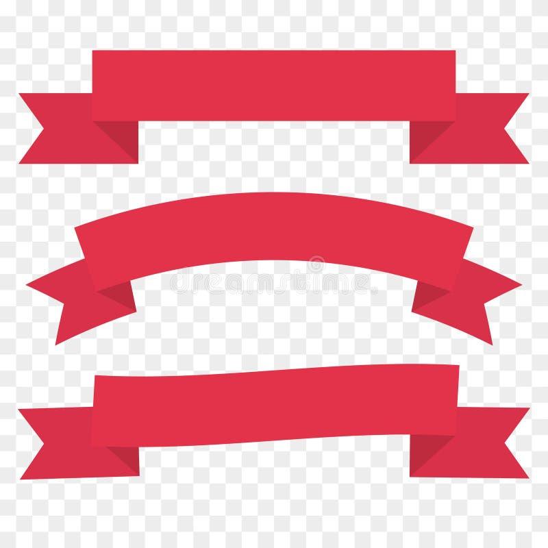 Fita vermelha ajustada, molde do elemento da decoração do vintage ilustração stock