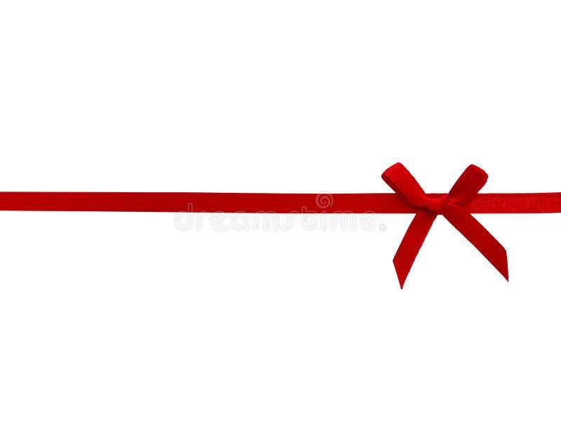 Fita vermelha com curva fotografia de stock