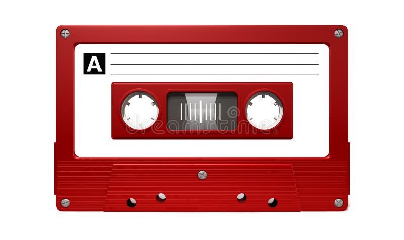 Fita vermelha da cassete áudio ilustração do vetor