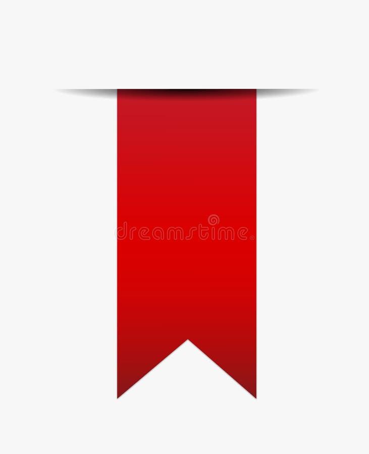 Fita vermelha fora do papel ilustração royalty free