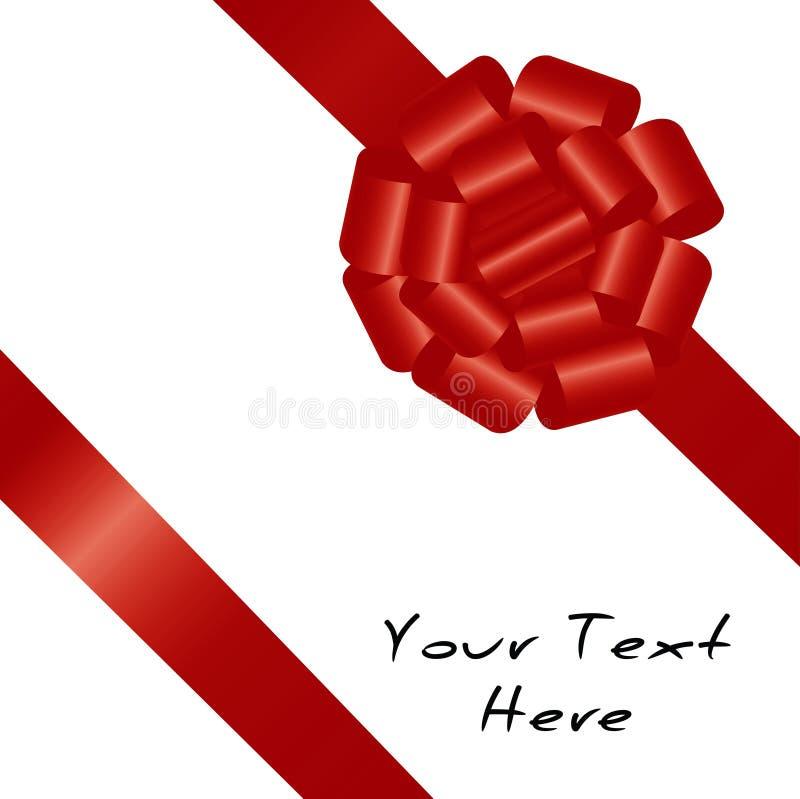 Fita vermelha no fundo branco ilustração do vetor