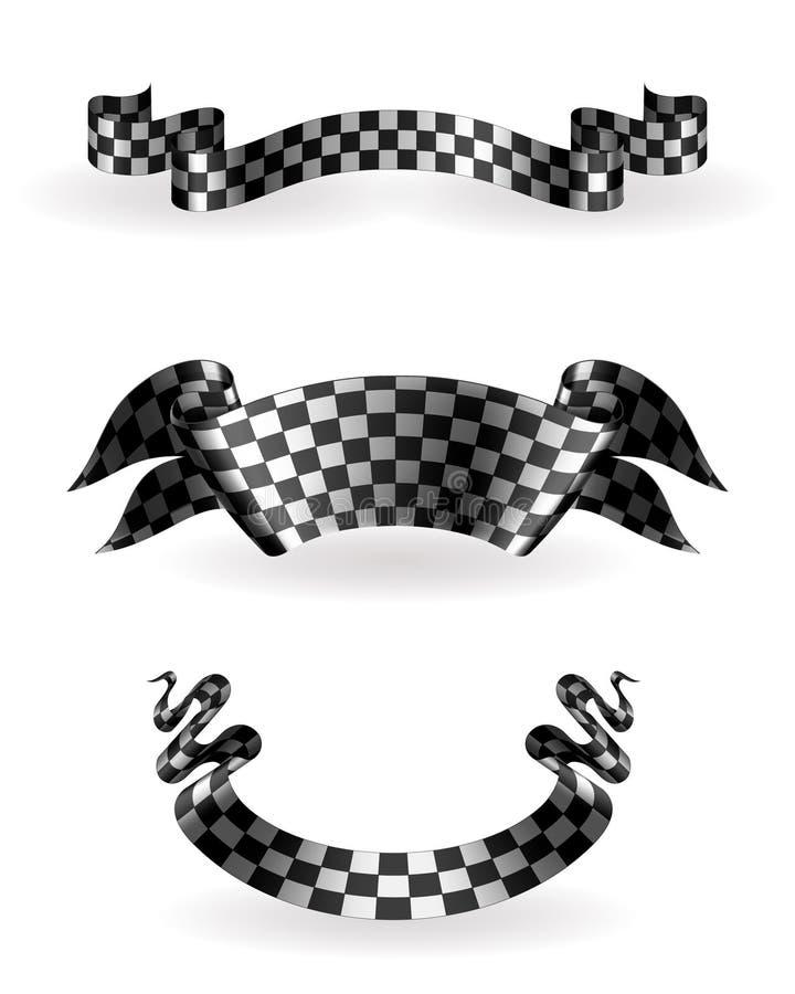 Fitas Checkered ajustadas ilustração royalty free