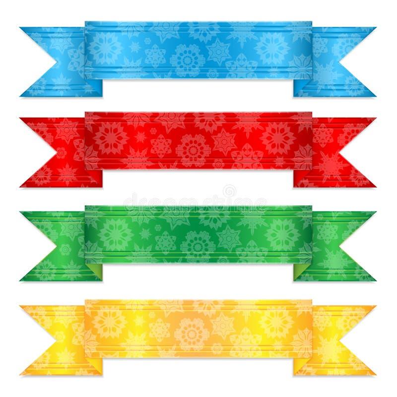 Fitas coloridos do Natal ilustração do vetor