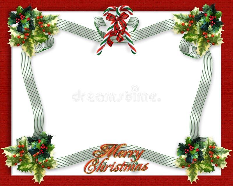 Fitas da beira do Natal ilustração royalty free