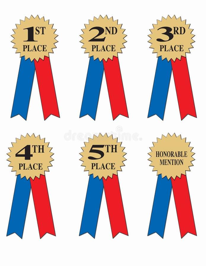 Fitas da concessão ou do vencedor   ilustração do vetor