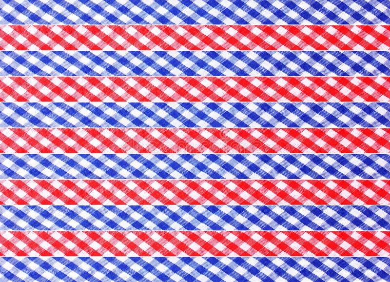 Fitas decorativas Checkered fotos de stock
