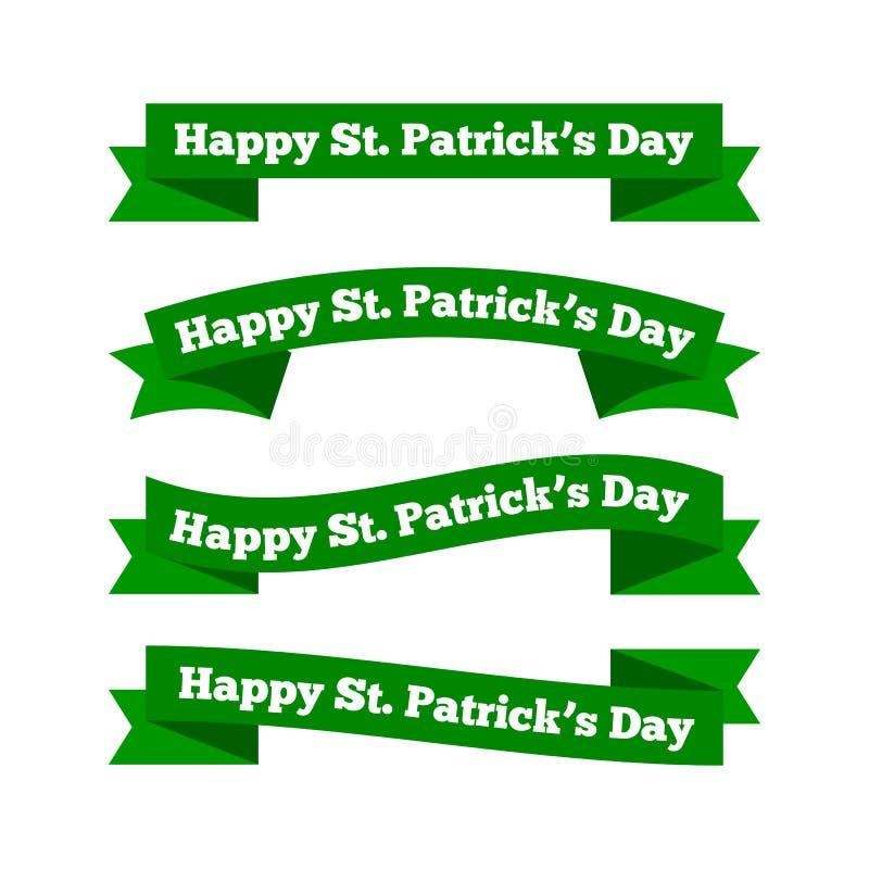 Fitas do dia de St Patrick ilustração stock