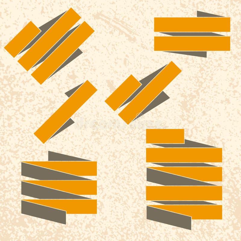 Fitas do Grunge no fundo textured ilustração do vetor