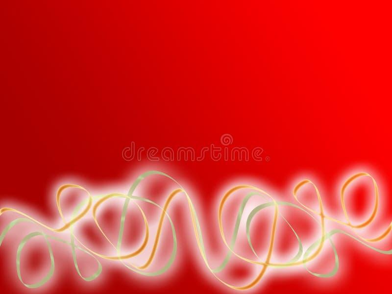 Fitas do partido abaixo do copyspace vermelho ilustração royalty free