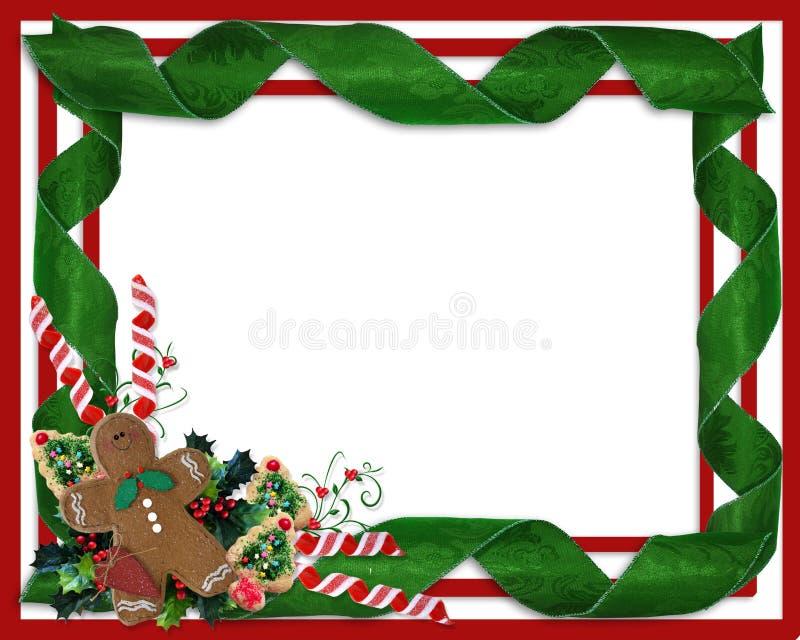 Fitas e deleites da beira do Natal ilustração royalty free