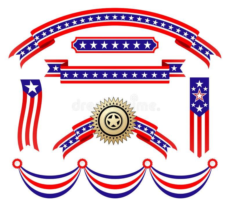 Fitas patrióticas americanas ilustração royalty free