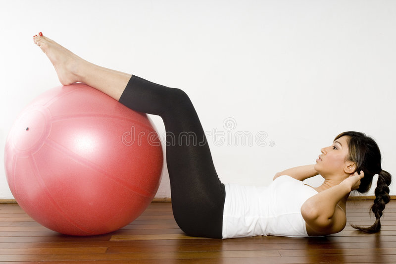 Download Fitball Exercise stock photo. Image of attractive, sport - 2355274