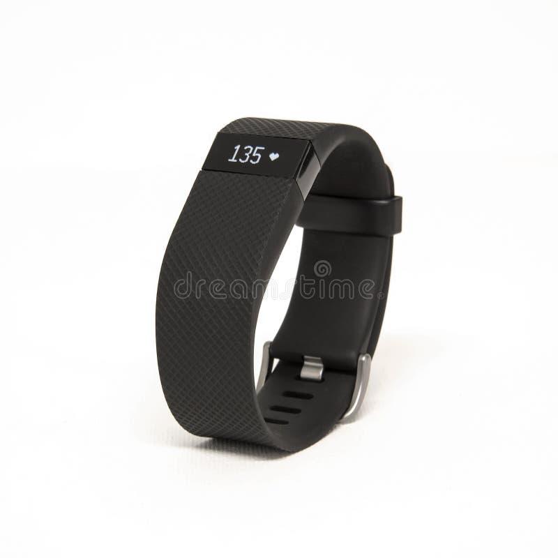 Fitbit充电HR 库存图片