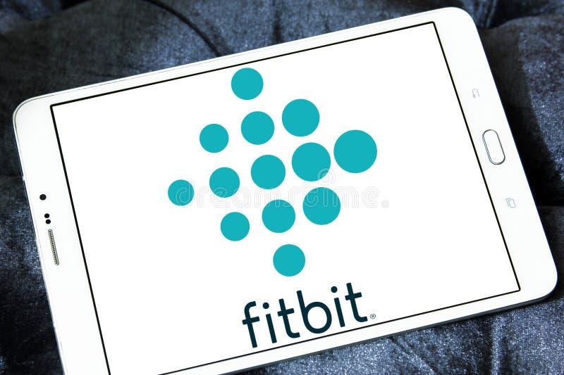 Fitbit företagslogo royaltyfria foton