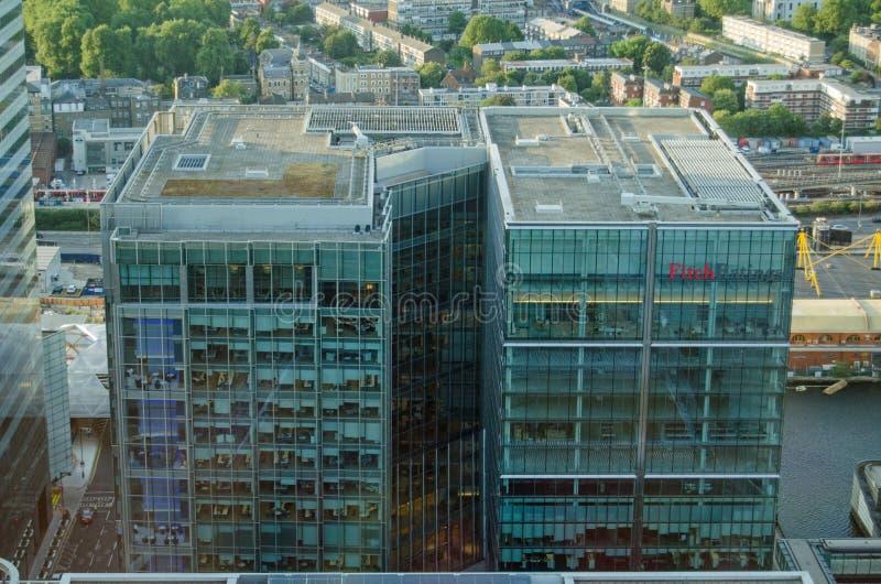 Fitch Ratings Offices, Londra fotografie stock libere da diritti