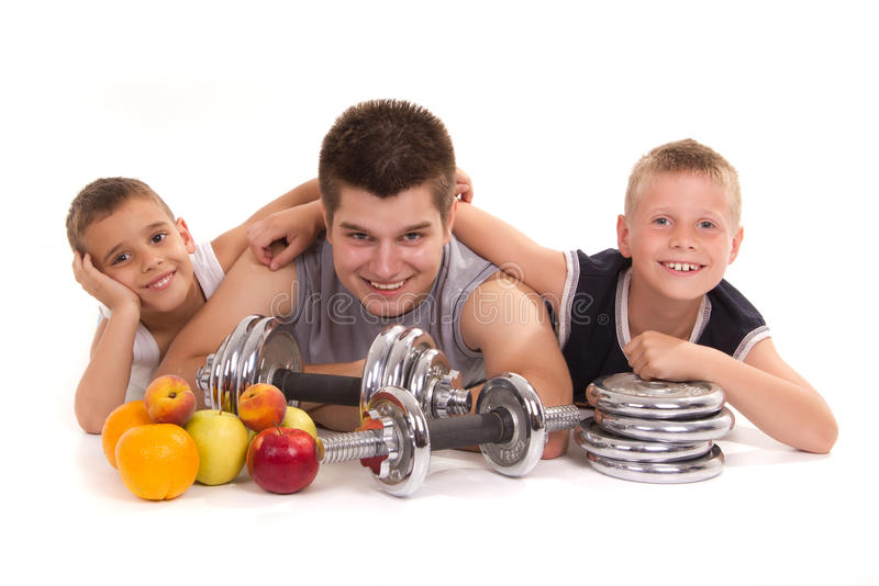 Fitnes und gesundes lizenzfreie stockfotos