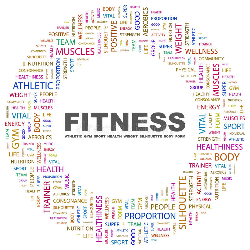 Download FITNESS. stock vector. Image of action, energy, consonance - 18425700