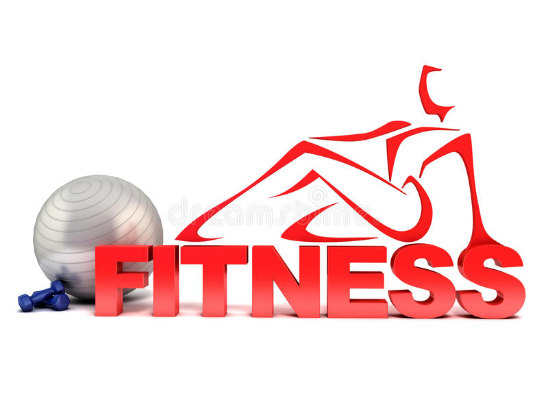 Fitness 3d concept stock illustration