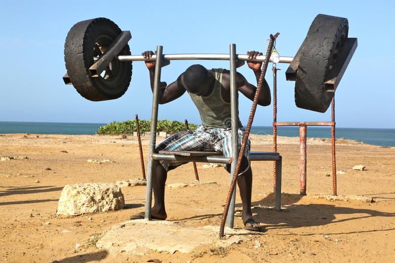Fitness in Africa stock photos