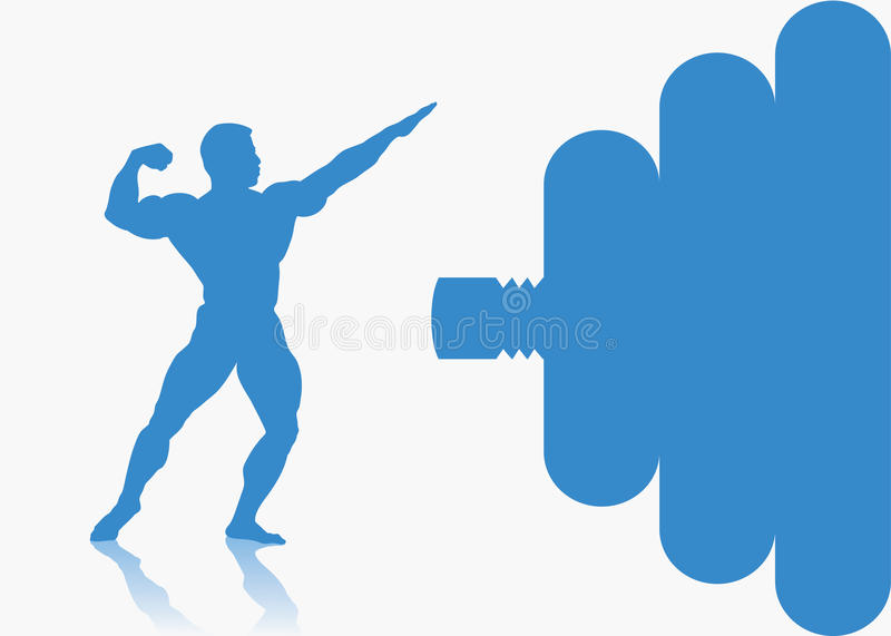 Download Fitness background stock vector. Image of pose, chest - 26920142
