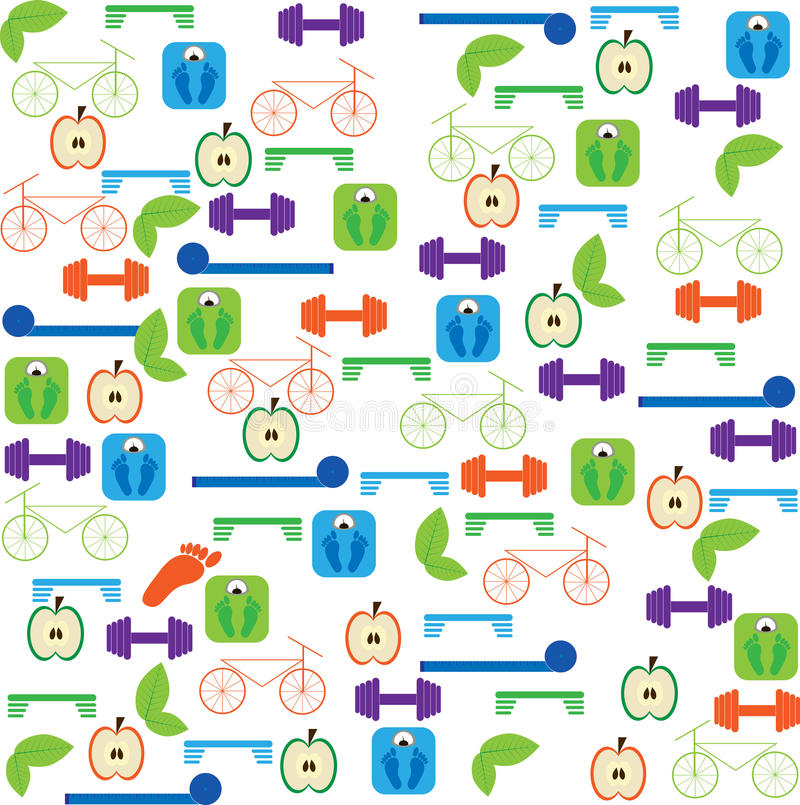 Fitness background stock illustration