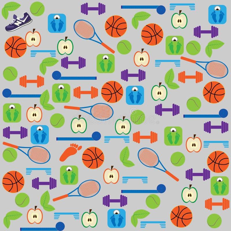 Fitness background royalty free illustration