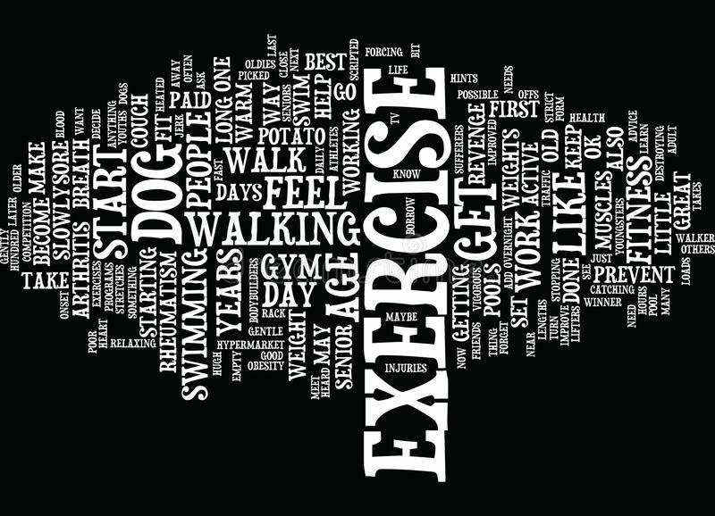 Fitness Is The Best Revenge Text Background Word Cloud Concept royalty free illustration