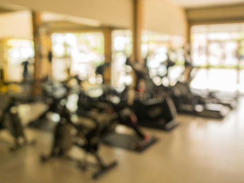 Fitness blurry background. Interior of fitness blurry background royalty free stock photos