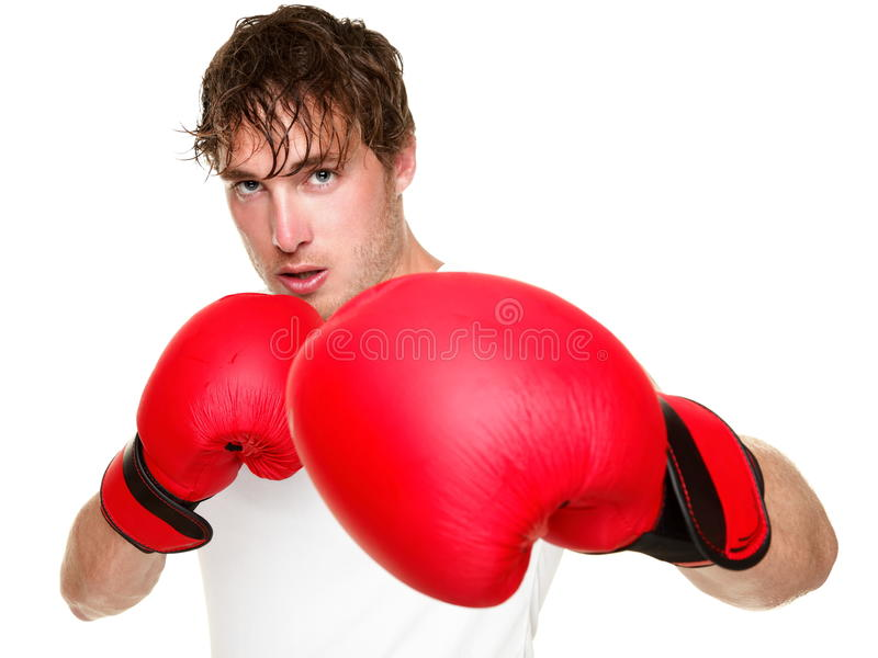 Fitness boxer boxing isolated stock images