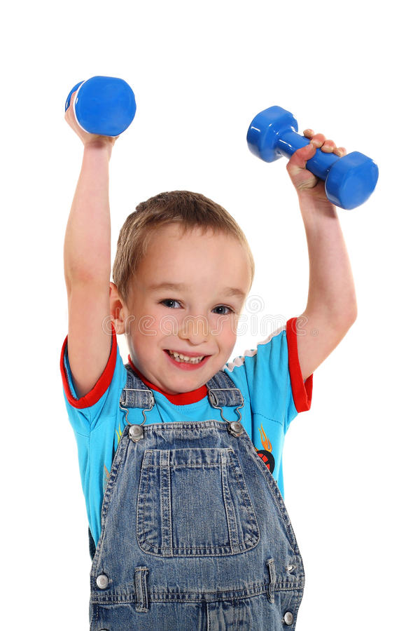 Fitness boy royalty free stock photos