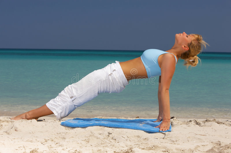 Fitness at Caribbean stock image