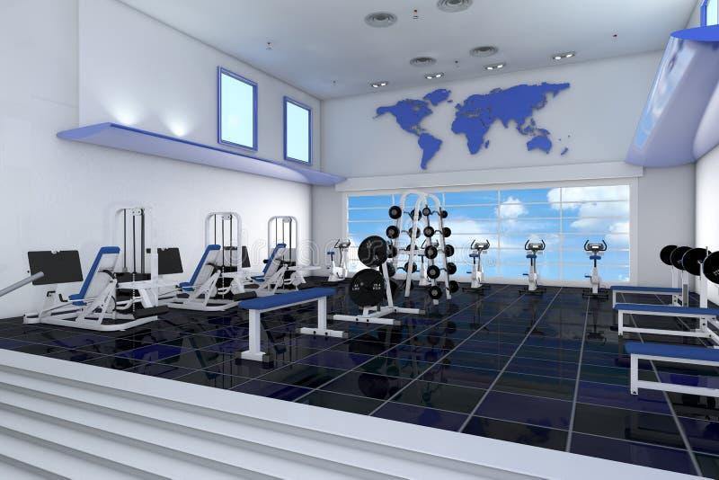 Fitness center no health club ilustração do vetor