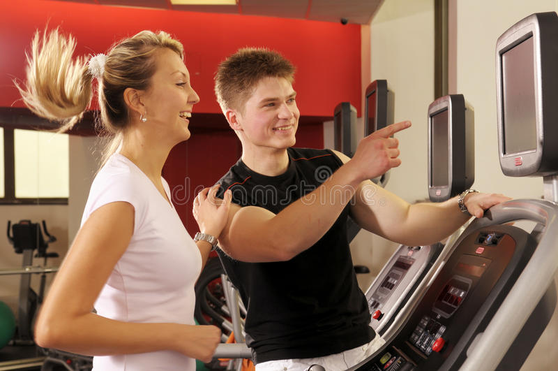 In fitness centre royalty free stock image