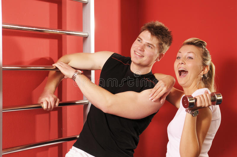 In Fitness Centre Royalty Free Stock Photography