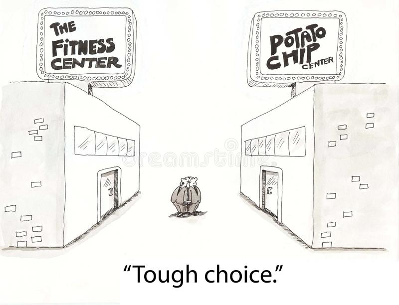 Fitness Choice Royalty Free Stock Image