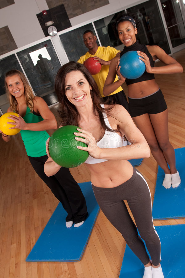 Download Fitness class stock image. Image of group, weight, diverse - 9228529