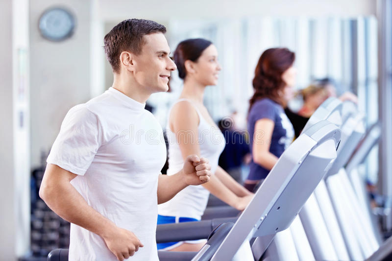 The fitness club stock images