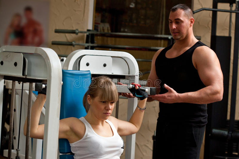 Fitness club royalty free stock photography